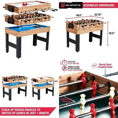 3 In 1 Combo Multi Game Table 48 Inch 3 Games Billiards Hockey Foosball