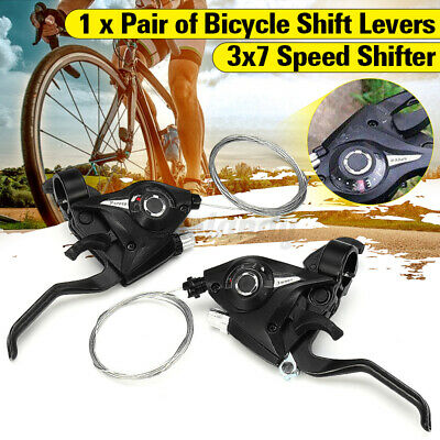 1 Pair for ST-EF51-7 MTB Bike Gear 3 x 7 Speed Brake Shifter Combo Lever