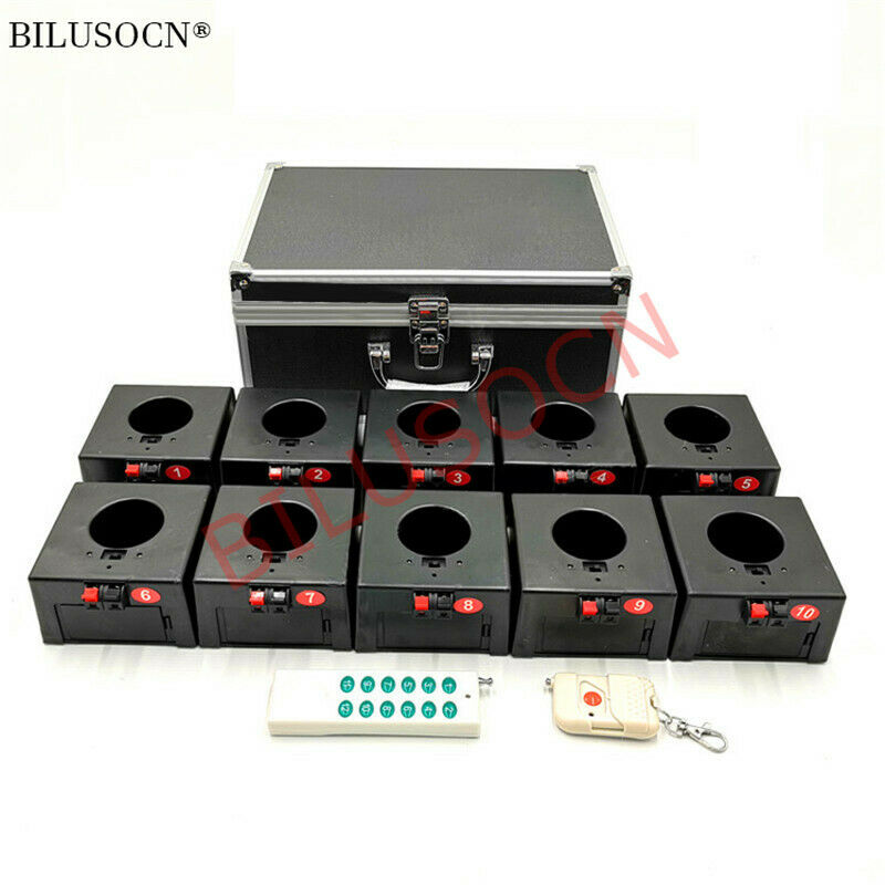 10 Cues Cold Firework Fireworks firing system  Fountain Wireless Remote Control