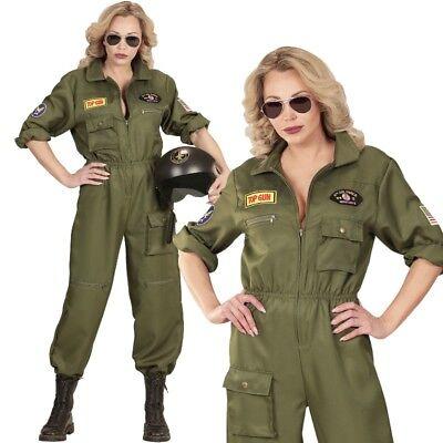 Jet Pilotin US ARMY Damen Kostüm Gr. XL 46/48 Top Gun Kampfpilotin #5544