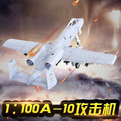 1:100 Warthog A-10 Attack Fighter Jet Military Strike Aircraft Diecast Model ()