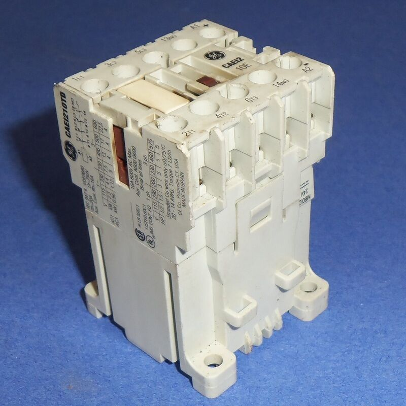 GE GENERAL ELECTRIC 24VDC COIL MINI CONTACTOR CAEI210TD *PZB*