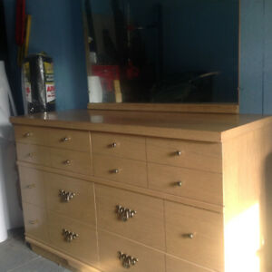 Old solid wood dresser