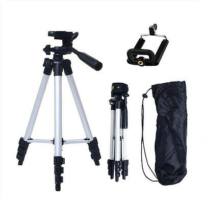 Extended Camera Tripod Mount Stand+Phone Holder Bracket f Nikon Canon Sony DSLR