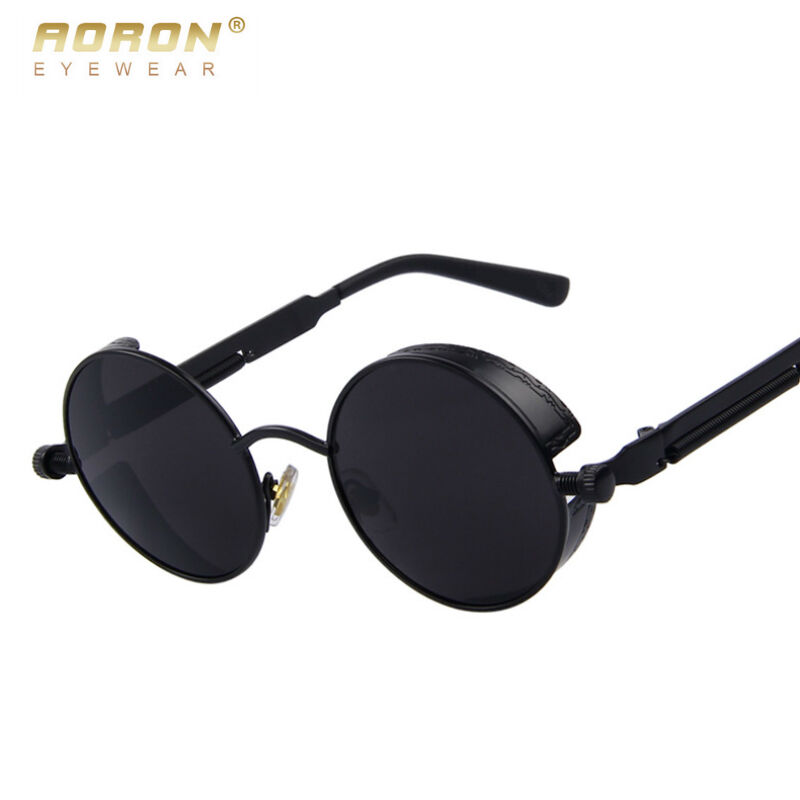 0b728841be UV400 Vintage Polarized Steampunk Sunglasses Mens Sports Driving Glasses  Mirror