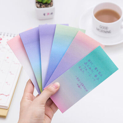 Rainbow Sticky Notes Cartoon Memo Pads Sticker Bookmark School Office Supply