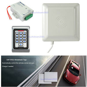 5-7m Long Range UHF RFID Reader Car Access Control Kit Controller Windshield Tag