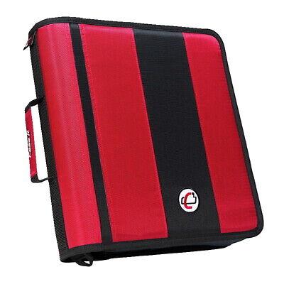 Case-it Classic O-ring Zipper Binder Red 2 Inches