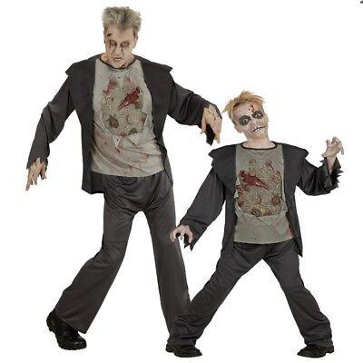 ZOMBIE Partner Kostüm für Herren und Kinder - Halloween Horror grim - Grim Reaper Kostüm