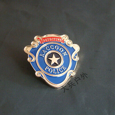 Resident Evil Metal Badges Raccoon Detective Police Badge Brooch Pin Collection