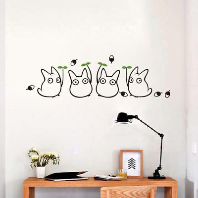 Elf Totoro Eco-friendly Removable Decals Home Transfer Wall Stickers Decor Mural