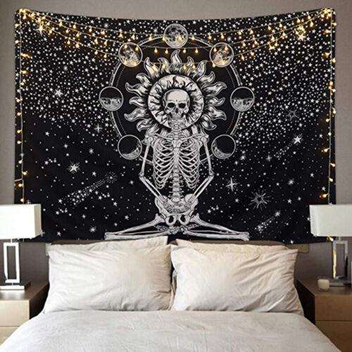 Seven Star Meditation Skeleton Tapestry Yoga Mat Blanket Man