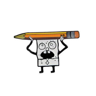 Cartoon SpongeBob Pencil Enamel Alloy Pins Brooch Fashion Jewelry Clothes Badge