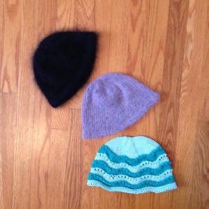 0-6  MONTH WINTER BABY HATS NATURAL FIBER