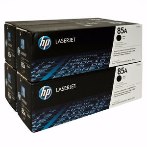 LOT OF 4 UNITS HP 85A (CE285A) Black Original LaserJet Toner