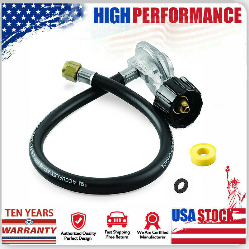 Propane Regulator Hose QCC1 Weber 7502 Replacement for Genesis Gas Grill
