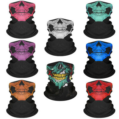 Skeleton Ghost Skull Face Mask Biker Balaclava Costume Halloween Cosplay Masks](Biker Halloween Costume)