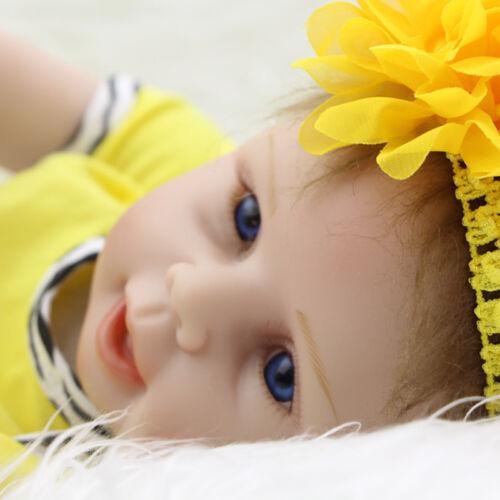 "Toddler Baby Boy 22"" Vinyl Lifelike Silicone Reborn Handmade Dolls Doll"