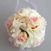 21 Silk Rose Flower kissing ball wedding party - 30$