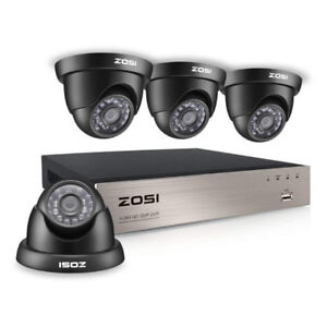 Full 720P HD-TVI DVR Dome InfraRed Outdoor Security Cameras
