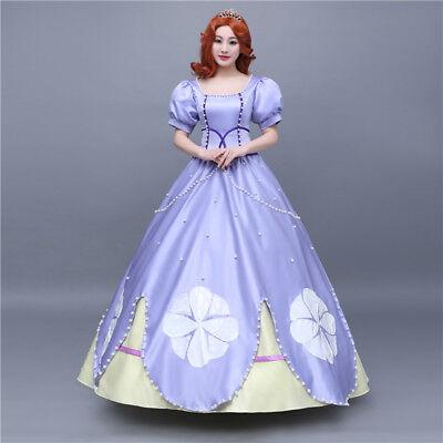 Sofia Kostüme (Sofia the First Disney Cosplay Costume Abend Kleid Kostüm Princess dress Neu)