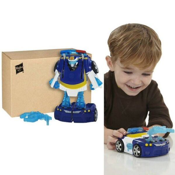 BNIB: Playskool Heroes Transformers Rescue Bots Energize Chase the Police-Bot Figure