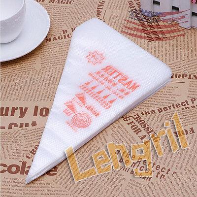 100pcs Cake Cupcake Fondant Pastry Decorating Icing Piping Bag Nozzles Tips Bags