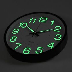 12 Pro Wall Clock Battery Power Wall Clock Silent Luminous Clock Living Room