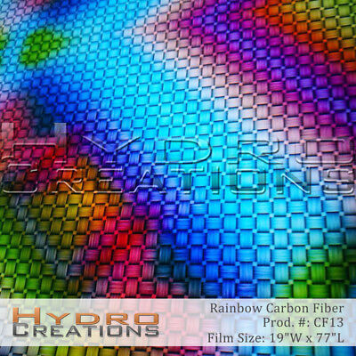 Hydrographic Film For Hydro Dipping Water Transfer Film Rainbow Weave