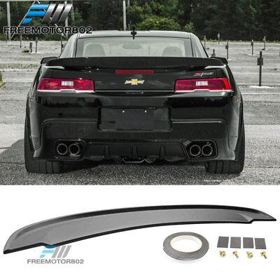 Lip Mount Spoiler - Fits 14-15 Chevrolet Camaro Flush Mount OE STYLE Trunk Spoiler Wing Unpainted