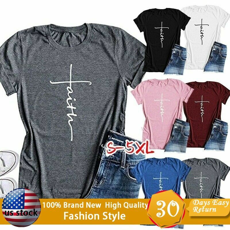 summer women s tops fashion cross faith