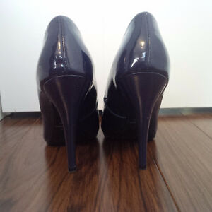 Navy Blue Peep Toe Pumps - Size 8 London Ontario image 3