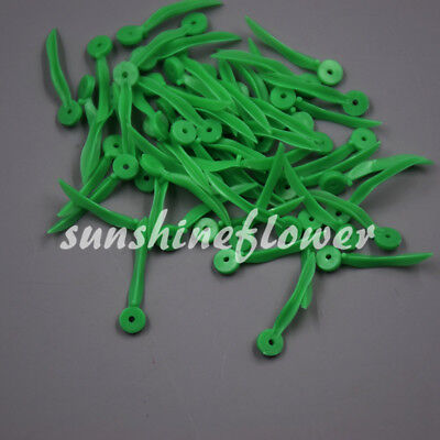 100 Pcs Dental Plastic Poly-wedges With Holes Round Stern Green Color Small Size
