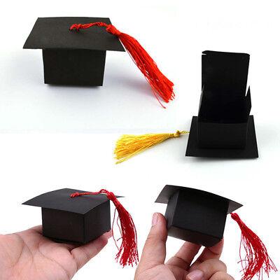 10 /50Pcs Paper Gift Box Candy Boxes Favors Graduation Cap Shape Party Wedding Graduation Cap Favor Boxes