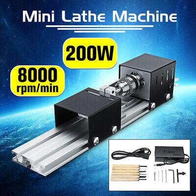 200w Mini Lathe Bead Machine Wood Working Diy Lathe Polishing Kit Pro Drill Tool
