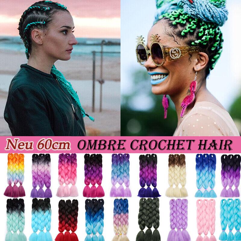Sew in Jumbo Braids Braid Haarverlängerung Kunsthaare zum Flechten Rasta Ombre s