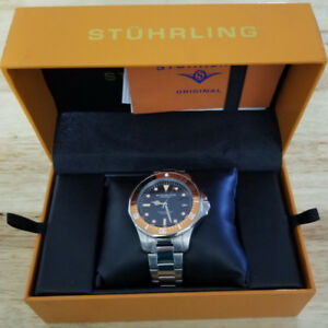 Stuhrling Original Men's Aqua Diver Japanese Quartz Watch