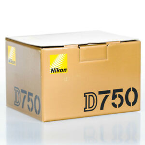 brand new nikon D750 full frame body sealed in box. zero clicks