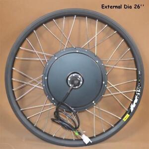 Open Box 26 Font Wheel Mountain Bike Modified 36-60V 500W E-bike Kit Refit#141106