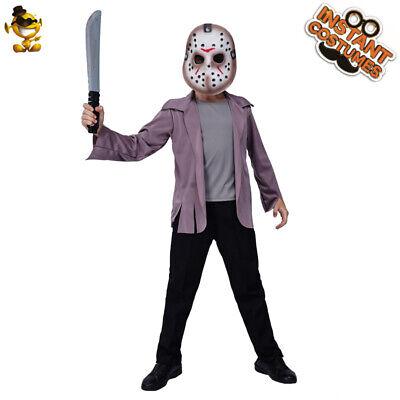 Child Jason Skirt Costume Halloween Kids Role Play Party Clothing - Kid Jason Costume