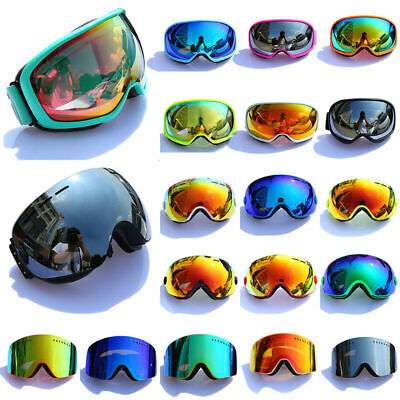 Men Women Adult Ski Snow Goggles Anti-fog Wind Climbing Snowboard Eye (Womens Ski Glasses)