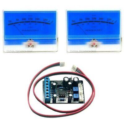 2pc Lake Blue Power Amplifier Vu Panel Meter W 1pc Power Supply Driver Board