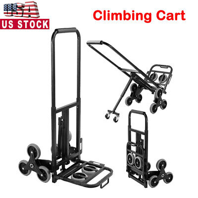 330 Lbs Stair Climbing Folding Cart Heavy Duty Hand Truck Dolly Portable Cart