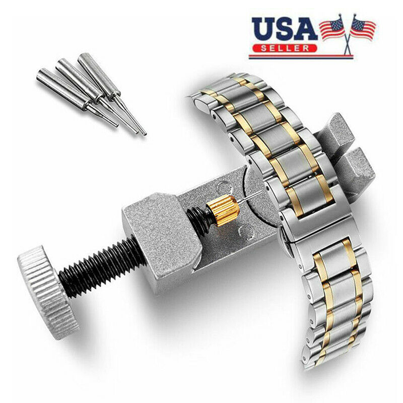 Adjustable Watch Band Bracelet Link 3- Pin Remover Repair Resizing Tool Kit Set