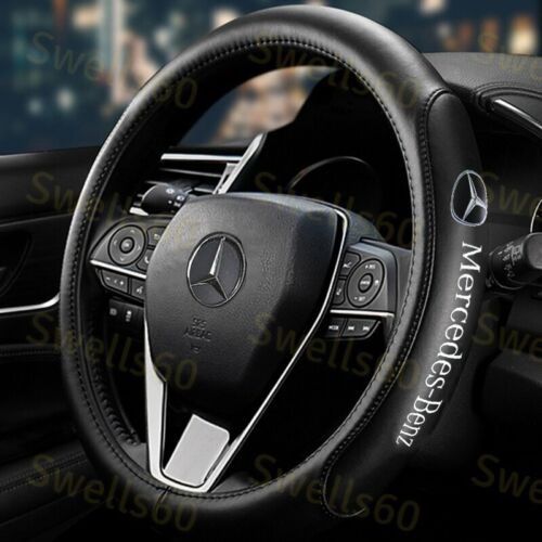 "15"" Diameter Car Steering Wheel Cover Genuine Leather For Mercedes-Benz AMG 2019"