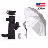 Screw Hot Shoe Umbrella Holder Bracket Flash Mount Lamp Light1/4