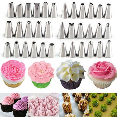 - Flower Stainless Steel Icing Piping Nozzle Pastry Cake Cupcake Decor Tips Baking
