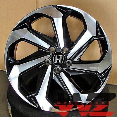 20 inch Honda Wheels Black Machined Fits Accord Ex Lx Coupe Sedan 5 Lug Civic