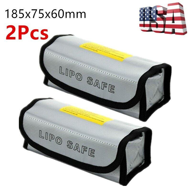 2Pcs Lipo Battery Safe Bag Guard Fireproof Explosionproof Sa