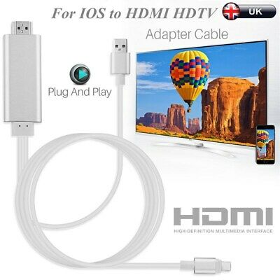 UK For IOS to HDMI cable AV to TV Cable 1080P For iPad air iPhone  6 7 8 X XR XS
